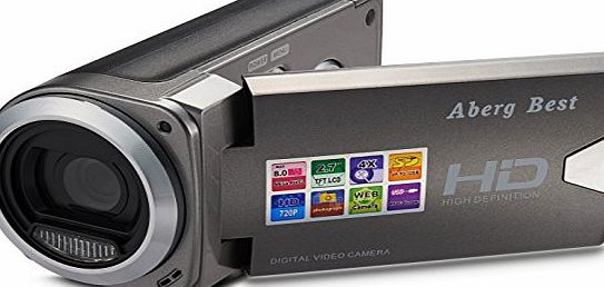 Aberg Best  HD Digital Video Camera - 8 mega pixels 720P HD Digital Camera - 2.7 inch LCD Screen - Students Camcorder - Handheld Sized Digital Camcorder Indoor Outdoor for Seniors / Teens / Unisex Chil