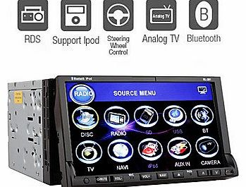 AbestShopping 7-inch 2 Din TFT Screen In-Dash Car DVD Player With Bluetooth,TV,RDS,iPod-Input