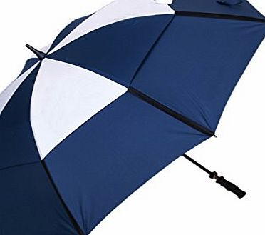 ABUSA Golf Umbrella Windproof with Double Canopy Wind Release Vents for Sports Outdoor Beach Ball Activities - Blue