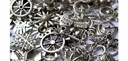 **SPECIAL OFFER** 30G Mixed Antique Silver Plated Pendant Charms (20-50pcs)ALSO AVAILABLE IN ANTIQUE BRONZE PLATED by AC.Crafts