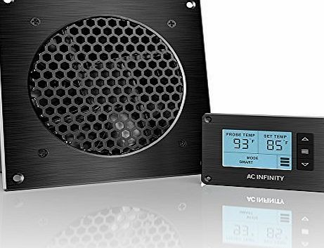 AC Infinity AIRPLATE T3, Quiet Cooling Fan System with Thermostat Control, for Home Theater AV Cabinets