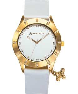 Accessorize Ladies Butterfly Charm Watch