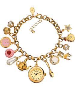 Accessorize Ladies Tea for Two Charm Watch