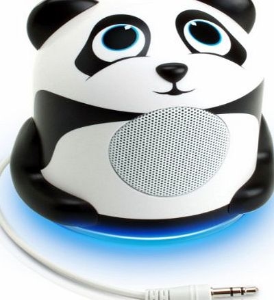 Accessory Power GOgroove Kids Night Light Portable Music Speaker Kit with Cute Panda Bear Animal Design for Kids , Toddlers , Babies - Works with Mobile Phones , Tablets , MP3 / MP4 Players amp; More!