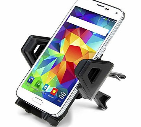 USA Gear In-Car Air Vent Mount Holder Dock with 360 Rotating Cradle & Adjustable Clamps for Large Phones- Will fit Apple iPhone 6 , 6 Plus , 5 / Samsung Galaxy S5 , Note / LG G3 / HTC One M8 / Nok
