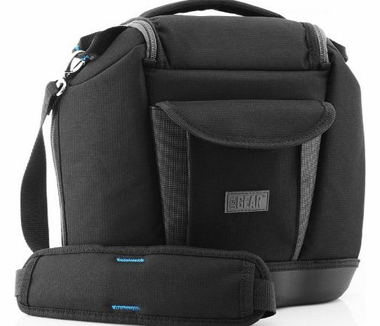 USA Gear Premium Medium SLR Camera Bag with Extra Zoom Lens Storage- Works with Nikon , Canon EOS , Pentax , Olympus , Samsung , Panasonic , Sony Alpha & More Digital Cameras