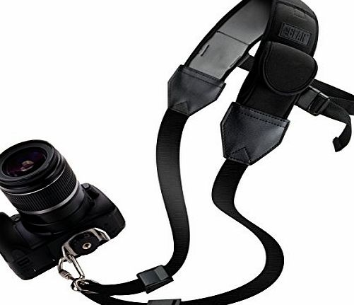 Accessory Power USA Gear TrueSHOT DSLR Camera Shoulder Strap Sling with Padded Neoprene , Underarm Support amp; Accessory Pockets - Works With Sony Alpha a7II , a6000 , a7 amp; Many Other DSLR , Mirrorless or Insta