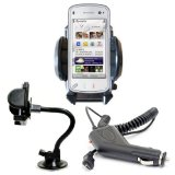 Brand New Shop4accessories Car Kit: Windscreen Suction Mount Holder and In Car Charger for the BlackBerry Storm 9500 / 9530