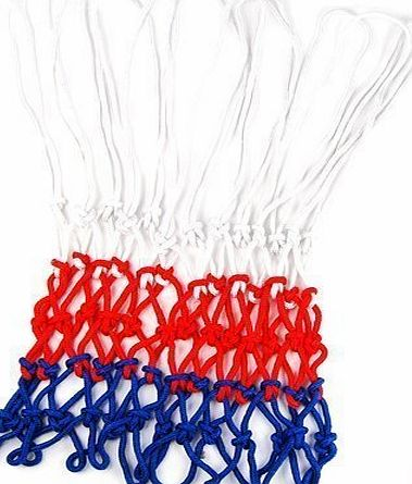 Accessotech Standard Durable Nylon Basketball Goal Hoop Net Netting Red/White/Blue Sports