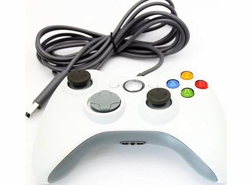 Microsoft Xbox 360 Xbox360 Wired USB Cable Game Controller Gamepad Joypad for PC Windows 7 Blue