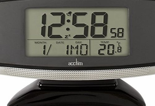 Acctim 71207 Acura Smartlite® Radio Controlled Alarm Clock, Black