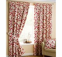 Cherry Blossom Lined Tape Top Curtains