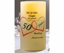 ACE Personalised Anniversary Candle