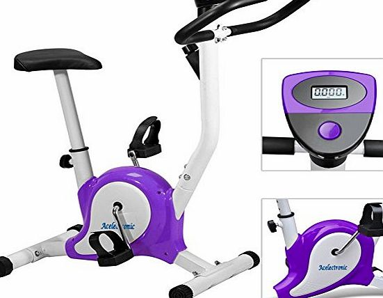 acelectronicuk Exercise Bike,Acelectronic Top Quality Safe Professional Exercise Bike Top Quality Fitness Cardio Workout Machine Adjustable Resistance (Purple)