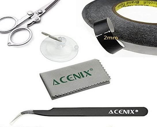 ACENIX® Adhesive Sticker Double Sided Tape Sticky Glue Tape 2mm Wide 50M long for iPhone 6 iPhone 6 plus iPhone 5 5S 5C 4S 4 iPad Air iPad Mini iMac Macbook Samsung Galaxy S5 S4 S3 S2 i9300 i9500 Note