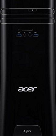 Acer  Aspire Desktop PC with Built-in WiFi - Black (AMD A10-7800 APU - Quad-core - 3.0 GHz / 3.5 GHz with Turbo Core - 4 MB cache, 8GB RAM, 2TB HDD, DVD/RW, Bluetooth, HDMI, VGA, SD memory card reader,
