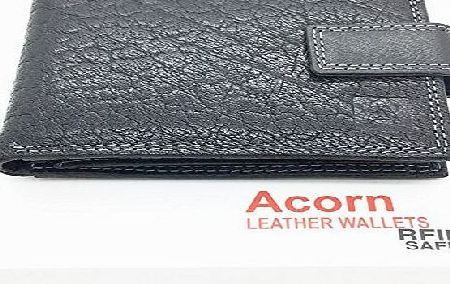 ACORN AND ARRON LEATHER MENS ITALIAN DESIGNER LEATHER WALLET