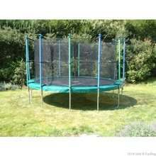 Action Tramps Skywalker 14 Gold Trampoline & Fun Ring