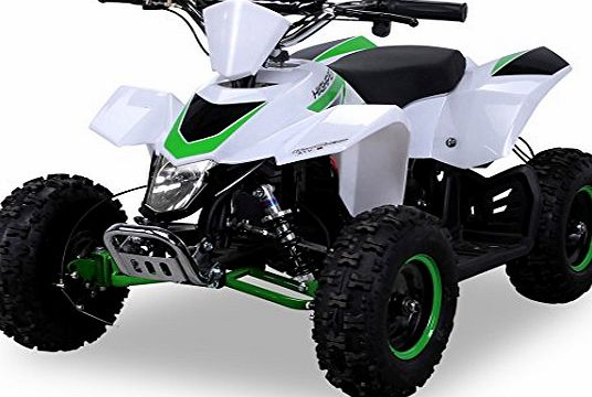 Actionbikes Electric Mini Quad Highper Racer 1000 WATT Electric ATV / Quad bike Ride-On Pocket White / Green