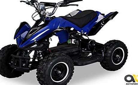 Actionbikes Mini Electric Kids Racer 800 Watt Pocket Quad Bike / ATV Ride-On Blue / Black