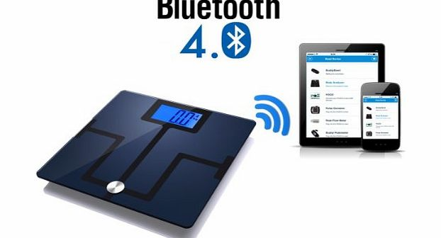 Activ8rlives Body Analyser Bluetooth 4.0 Smart Scales for iPhone (4s & above), iPad (3 & above) and Selec