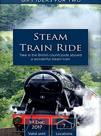 Activity Superstore Steam Train Ride - Gift Experience Days - 7 UK Locations