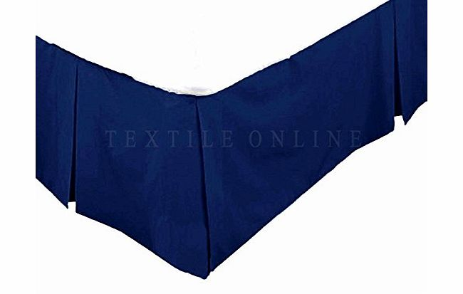Adam Textile Online Luxury 68 Pick Poly-Cotton Base Valance Sheet Navy Blue (Single)
