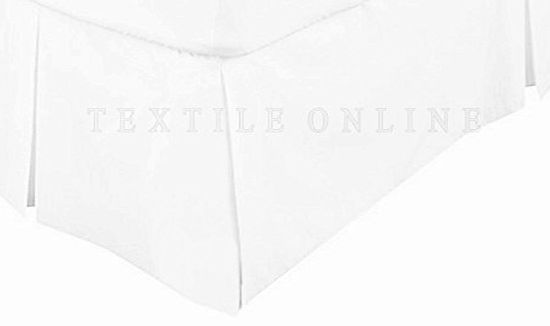Adam Textile Online Luxury 68 Pick Poly-Cotton Base Valance Sheet White (Double)