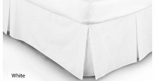 Adams Adamlinens Luxury 68 Pick White Single Base Valance sheet