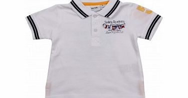 Adams Toddler Boys White Polo with Tipping L6/D4