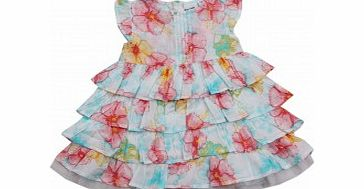 Adams Toddler Girls Flower Print Tiered Dress B7 L2/B7
