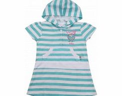 Adams Toddler Girls Green and White Striped Jersey