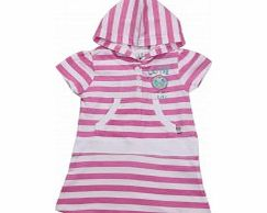 Adams Toddler Girls Pink and White Striped Jersey