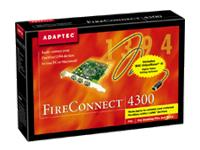 Adaptec FireConnect 4300 - Serial adapter - PCI - Firewire - 400 Mbps - 3 port(s)
