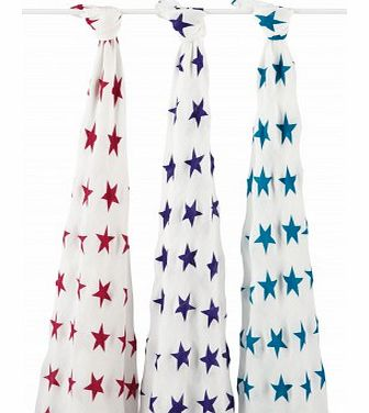 Organic swaddle - vivid stars - pack of 3 `One