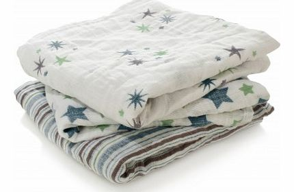 Swaddle - Blue Stars - Pack of 3 `One size