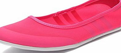 adidas  Neo Womens Sunlina Ballet Slip on Flats Shoes (UK 8, Pink)