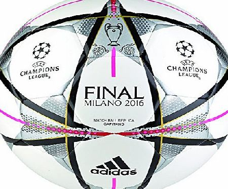 adidas  Performance Milano Adult Ball Finale Capitano Football - White, size 5