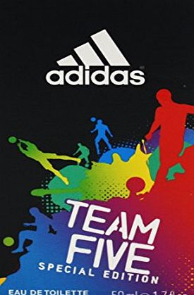 adidas  Team Five Eau De Toilette Spray 50 ml