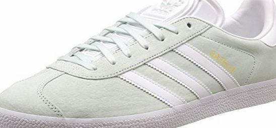adidas  Unisex Adults Gazelle Low-Top Sneakers, Green (Ice Mint/White/Gold Met.), 8 UK 42 EU