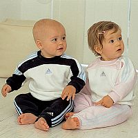 Adidas Babies Three Stripe Jogsuit