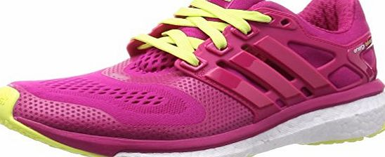 adidas Energy Boost ESM Ladies Running Shoes, Pink/Yellow, UK6