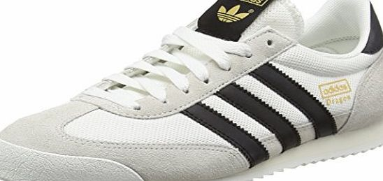 adidas Mens Dragon Trainers, White (Vintage White/Core Black/Off White), 10 UK