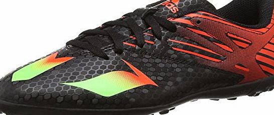 adidas Messi 15.4 Turf, Unisex Kids Football Boots, Black - Schwarz (Core Black/Solar Green/Solar Red), 1 UK (33 EU)