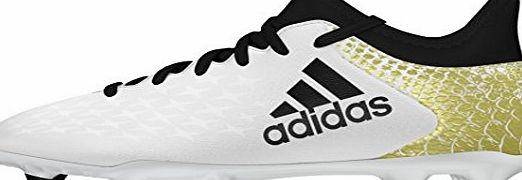 adidas X 16.3 FG J - Football boots for Boys, 35, White
