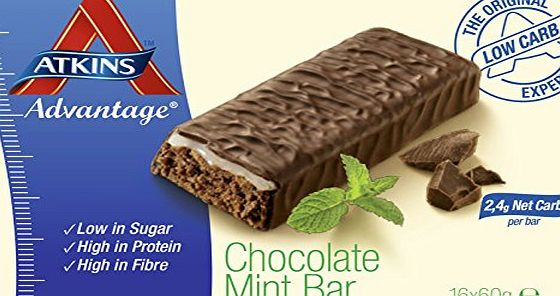 Advantage Atkins 60g Advantage Choc Mint Bar - box pack of 16