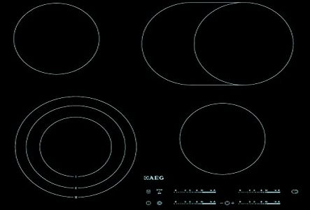 AEG  hk654070fb Hob - Plate (Built-in, Electric, Ceramic, Electronic, 1.5 m, 59 cm) Black