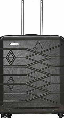 Aerolite Premium ABS Hard Shell 8 Wheel Spinner Luggage Suitcase Travel Trolley Cases with Integrated TSA Approved 3 Digit Combination Lock (CHARCOAL, 26 Inch)
