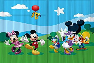 AG DESIGN  FCS xl 4307 Disney Mickey Mouse Curtains for Childs Bedroom