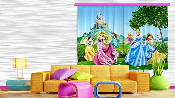 AG DESIGN  FCS xl 4319 Disney Princess Curtains for Childs Bedroom